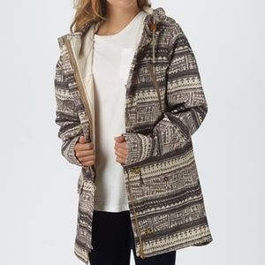 Burton Taupe Geometric Soteil Jacket